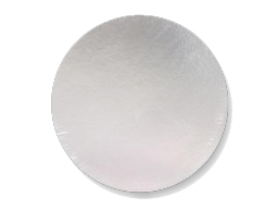 "Boards 14"" Round Silver 50 Qty"