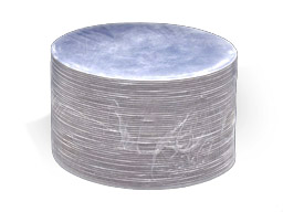 "Boards 9"" Round Silver 50 Qty"