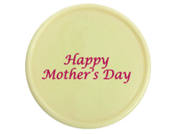 CHOC MOTHERS DAY PLAQUE WHITE 36PC 77421