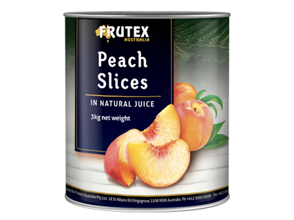 Peach Slices in Natural (Grape) Juice 3A10